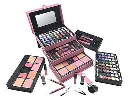 plete full makeup starter kit beauty train case cosmetic set gift for women