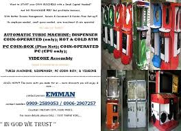 Piso Water Vending Machine Philippines Best AUTOMATIC TUBIG MACHINE PC COINBOX Piso Net VIDEOKE Assembly