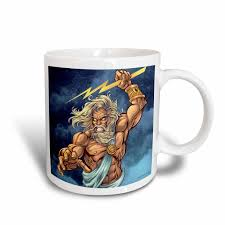 3drose zeus throwing a lightning bolt from a stormy sky ceramic mug 15 ounce walmart