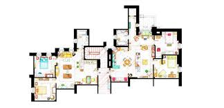 From Friends To Frasier 13 Famous TV Shows Rendered In Plan Tv House Floor Plans