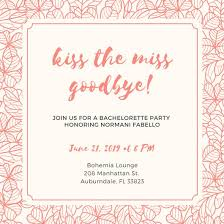 bachelorette party invite bachelorette party invitation templates canva