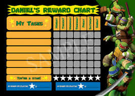 Ninja Turtle Potty Training Chart Details About Ninja Turtles Personalised Reward Chart Chore Potty Behaviour Mine Video Game