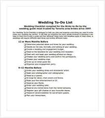 Wedding Checklist Template Impressive 48 Checklist Templates Free Premium Templates