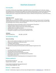 Fashion Sales Assistant Sample Resume Sales Assistant Cv Example