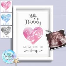 personalised baby scan print gift for dad to be