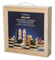 Wooden Compendium Of Games WHSmith Wooden Games Compendium WHSmith 2
