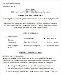 Bank Branch Manager Resume Awesome Bank Branch Manager Resume Colbroco