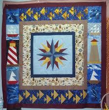 Nautical Star Paper Pieced Quilt + Free Mariner's Compass Pattern ... & Nautical Star Paper Pieced Quilt by Gail Kolcz Adamdwight.com