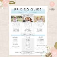 Photography Pricing Template Photography Pricing Template Pricing Guide Template Pricing Etsy