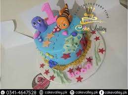 Dory Fish Theme Birthday Cake For Baby Girls Online Cake Order And