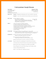 Undergrad Cv Template - April.onthemarch.co