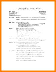 8 Undergraduate Student Cv Template New Tech Timeline