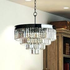 odeon chandelier retro palladium glass fringe rectangular