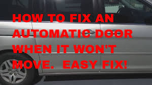 how to fix your honda odyssey door when it won t open or close