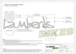 regulator rectifier lamberts bikes 2 phase 4 wire regulator rectifier wiring diagram