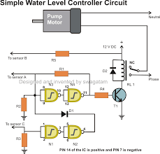 automatic water level controller indicator circuit automatic water level controller indicator circuit