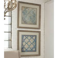 uttermost meagher x27 stained glass indigo x27 2 piece framed on set of 2 framed wall art with shop uttermost meagher stained glass indigo 2 piece framed canvas