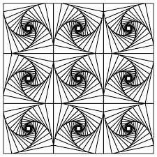 Small Picture Geometric Tessellation With Rhombus Pattern Coloring Page Inside