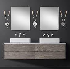 wall mounted double vanity. Brilliant Mounted On Wall Mounted Double Vanity E