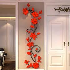 3d romantic rose flower wall sticker removable pvc home decor decal room vinyl