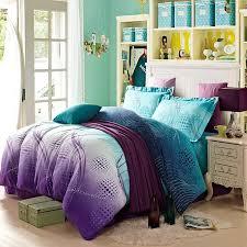 nice purple and teal comforter set