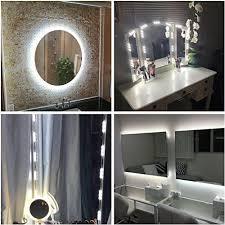 diy light up vanity mirror. 60 leds 9.8 ft make-up vanity mirror light diy kits for cosmetic makeup diy up