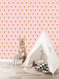 Kinderkamer Behang Ijsjes Roze Fiep Westendorp Fiep
