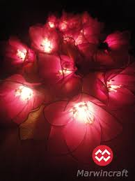 Party Bedroom 20 Pink Magenta Rain Lilly Flower Fairy String Lights Hanging