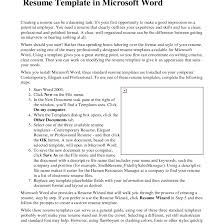 How To Find Resume Template In Microsoft Word 2007 Tomyumtumweb Com