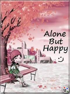 alone but happy girl wallpaper for facebook