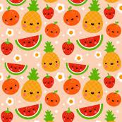 cute fruit wallpaper. Plain Wallpaper Happy Fruit In Cute Wallpaper O