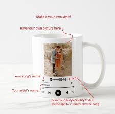 Listen to i'll make a cup of coffee for your head on spotify. Create Your Own Spotify Song Mug Have Your Own Picture Song S And Ar Razken Gifts Shop