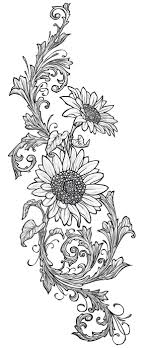Sunflower Stencil Designs Sunflowers Used For The Wood Drawer File Cabinet Wood