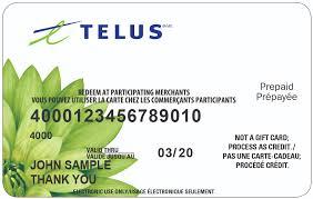 the telus visa prepaid card