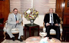 محافظ بنى سويف يُهنئ مدير الأمن الجديد بعد تعيينه فى حركة تنقلات الشرطة -  اليوم السابع