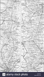 Gt Eastern Rail London Ipswich Bury Norwich 1874 Old