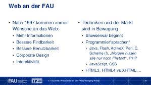 Webdienste an der FAU: Gestern, Heute, Übermorgen