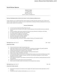 Gallery Of Social Worker Resume Objectives Free Resume Templates