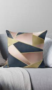 geometric rose gold pink gold and