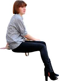 person sitting in chair back view png. Perfect View Girl Sitting Down Viewed From Side On To Person Sitting In Chair Back View Png N