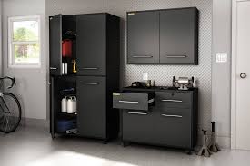 South Shore Karbon Collection Base Storage Cabinet Pure Black