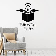 outside the box office. Inspirational Motivational Office Decoration Decals Think Outside The Box Quotes Wall Decal Art Home Decor
