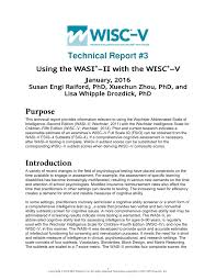 Wisc V Score Chart Wisc V Report Template Template
