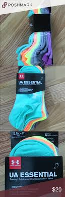 Under Armour No Show Six Pack Socks Youth 13 5k 4y Brand New