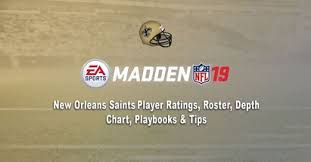 New Orleans Saints Wr Depth Chart Madden 19 New Orleans Saints Player Ratings Roster Depth