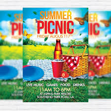 Picnic Template Summer Picnic Flyer Template Free Ldlm Info