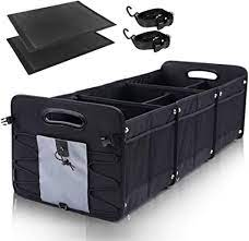 GEEDAR Large Trunk Organizer Car Organizers and Storage for SUV 3  Compartments Collapsible Portable Non-Slip Bottom Tie Down Straps (Gray):  Home Improvement - Amazon.com
