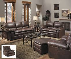 Living Room With Brown Leather Sofas Brown Leather Furniture In Living Room Khabarsnet