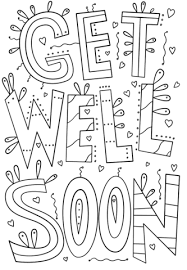 Get Well Soon Coloring Pages Free Printable Pictures