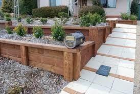 retaining walls timber sleeper wall